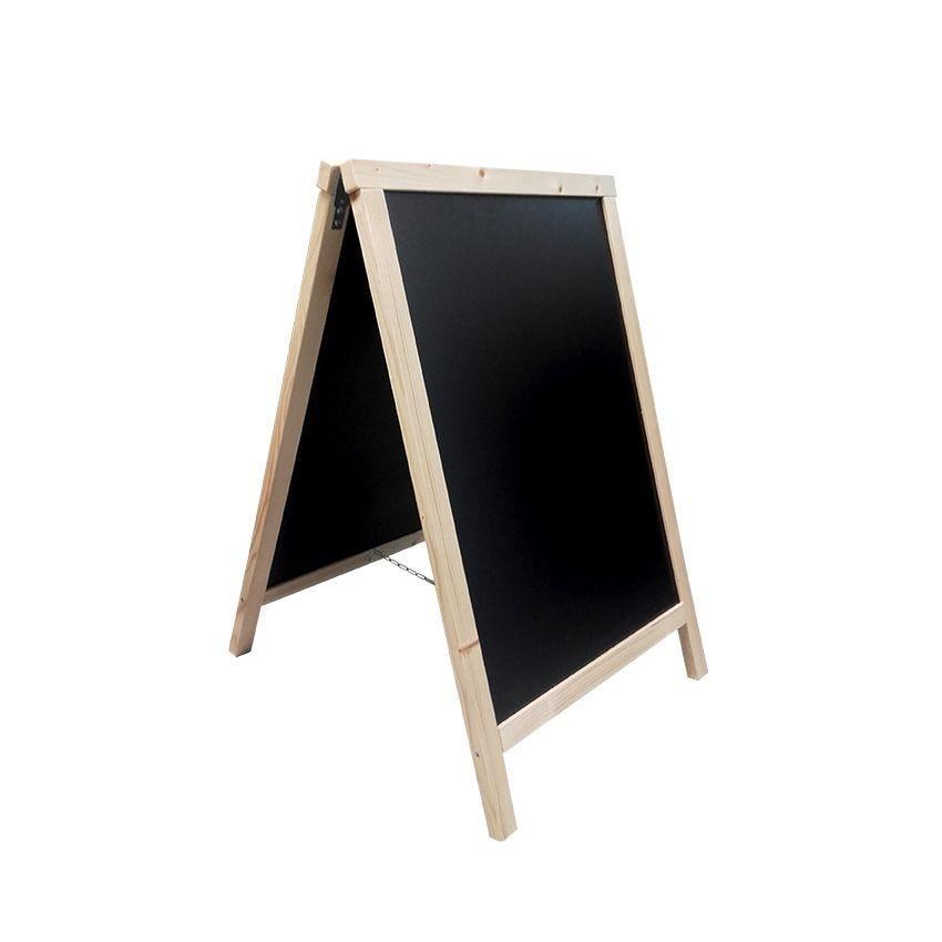 Chevalet trottoir dimensions 55 x 85 cm en bois pin naturel - fab française (photo)