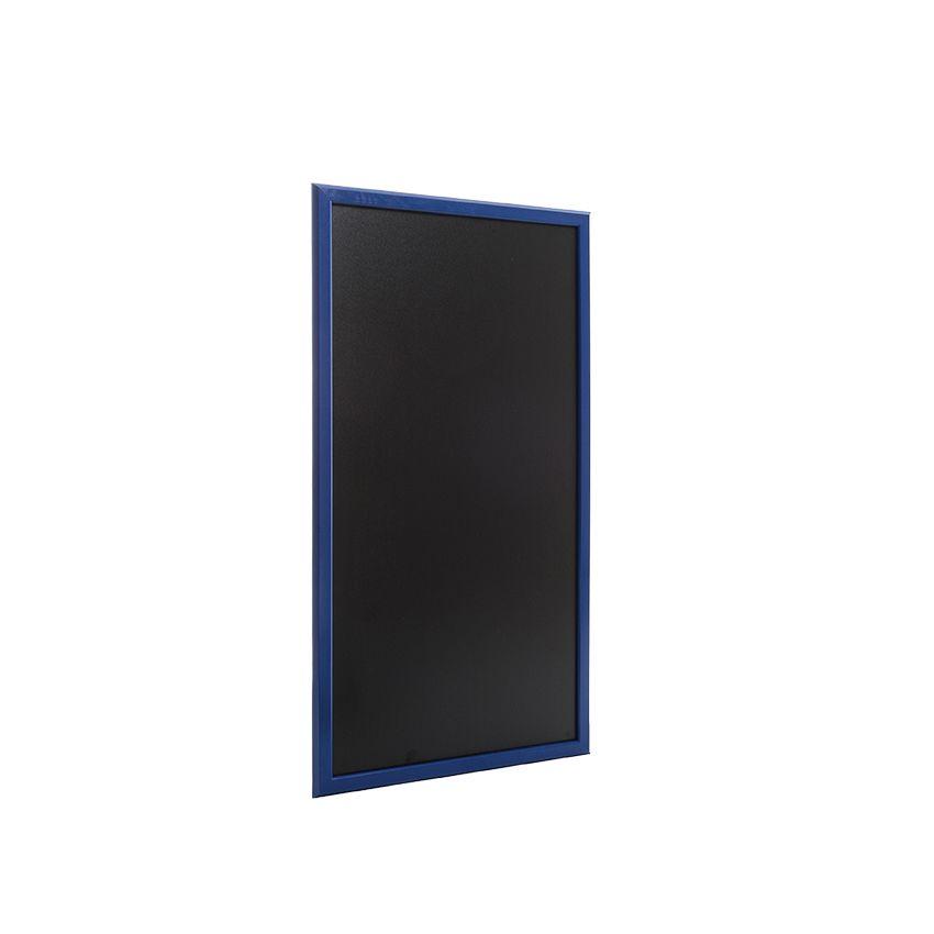 Ardoise murale en bois - couleur bleu mer - dimensions 102 cm x 57 cm (photo)