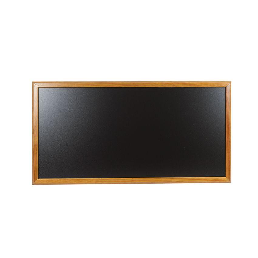 Ardoise murale en bois - couleur chêne - dimensions 102 cm x 57 cm (photo)