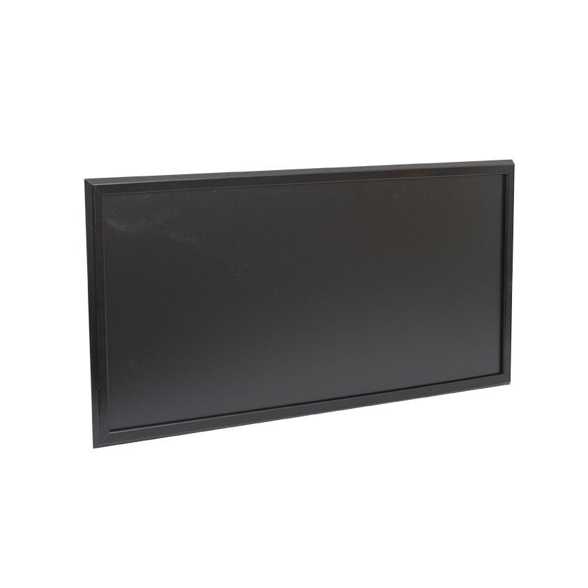 Ardoise murale en bois - couleur noir - dimensions 102 cm x 57 cm (photo)