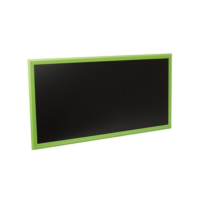 Ardoise murale en bois - couleur vert - dimensions 102 cm x 57 cm (photo)