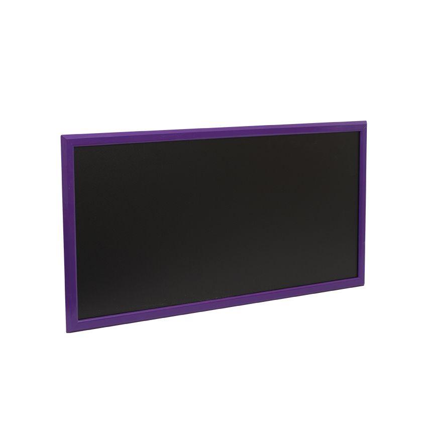 Ardoise murale en bois - couleur violet - dimensions 102 cm x 57 cm (photo)