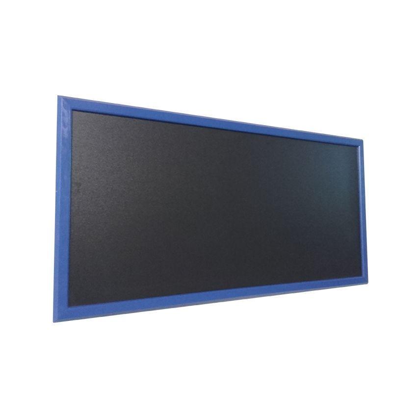 Ardoise murale en bois - couleur bleu mer - dimensions 95 cm x 50 cm (photo)