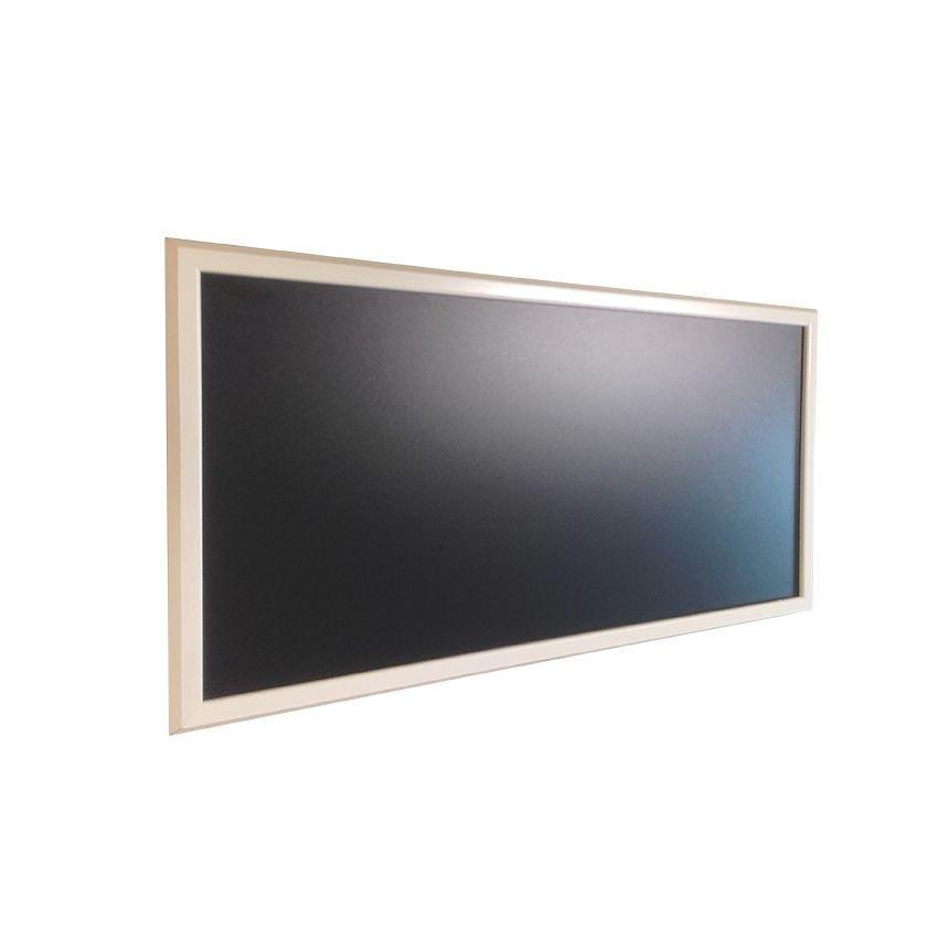 Ardoise murale en bois - couleur ivoire - dimensions 95 cm x 50 cm (photo)