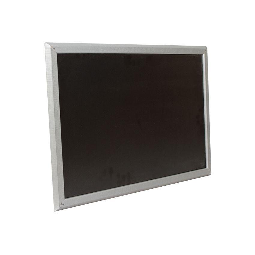 Ardoise murale en bois - couleur gris - dimensions 66 cm x 46 cm (photo)