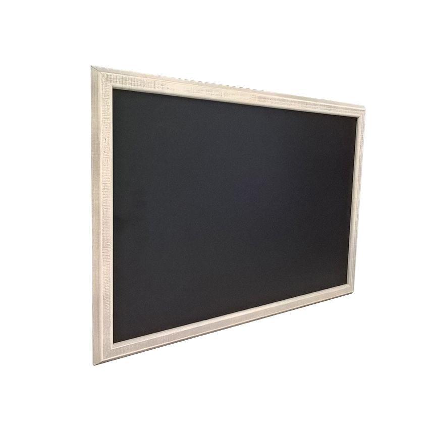 Ardoise murale en bois - couleur gris cérusé - dimensions 66 cm x 46 cm (photo)