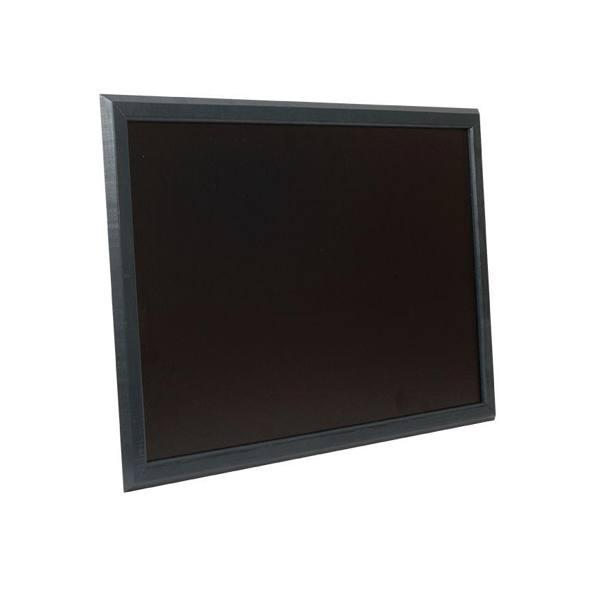 Ardoise murale en bois - couleur noir - dimensions 66 cm x 46 cm (photo)