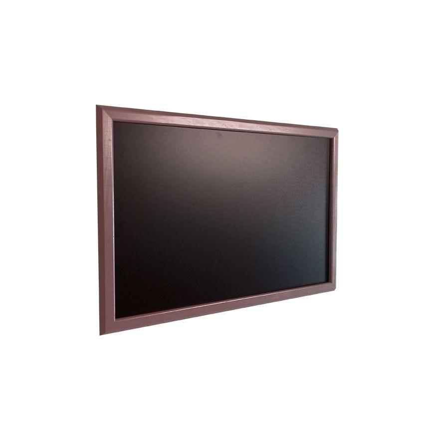 Ardoise murale en bois - couleur taupe - dimensions 66 cm x 46 cm (photo)