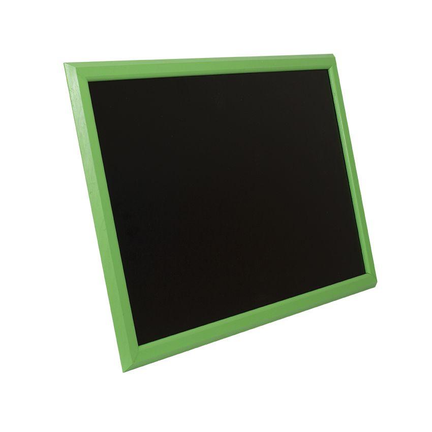 Ardoise murale en bois - couleur vert - dimensions 66 cm x 46 cm (photo)
