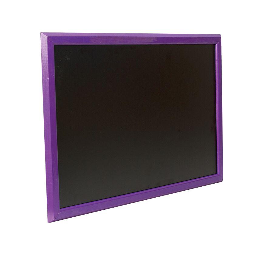 Ardoise murale en bois - couleur violet - dimensions 66 cm x 46 cm (photo)