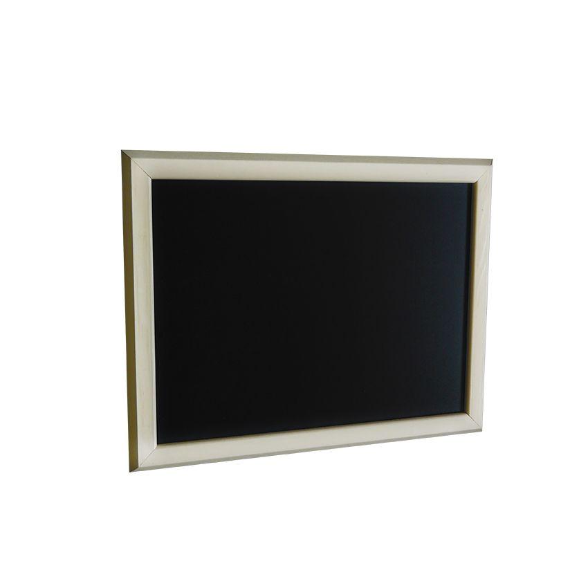 Ardoise murale en bois - couleur ivoire - dimensions 46 cm x 36 cm (photo)