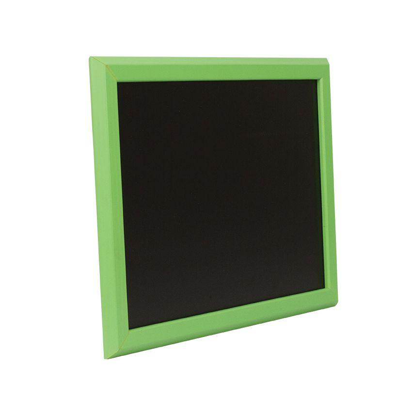 Ardoise murale en bois - couleur vert - dimensions 46 cm x 36 cm (photo)
