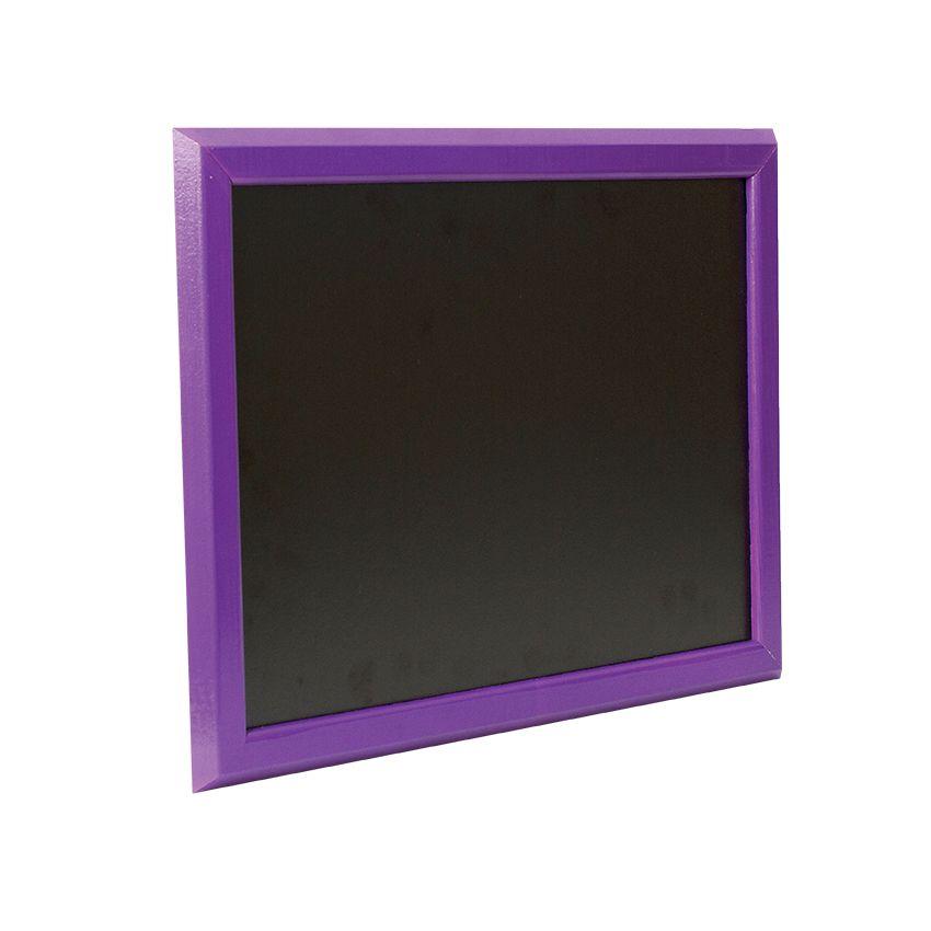 Ardoise murale en bois - couleur violet - dimensions 46 cm x 36 cm (photo)