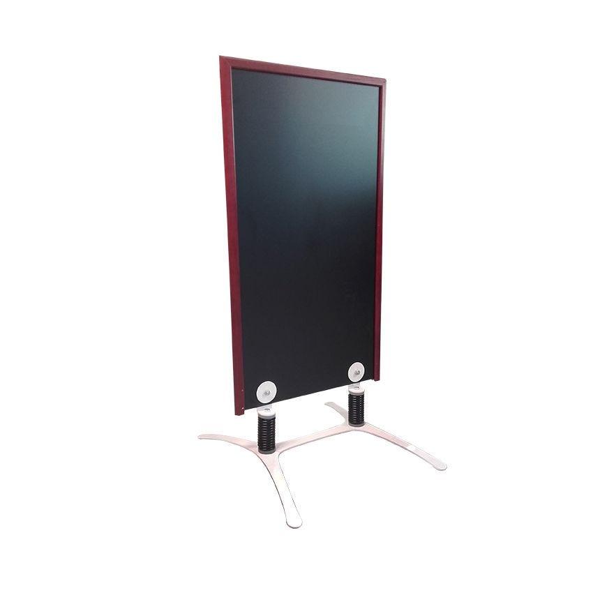 Panneau trottoir cadre en bois couleur acajou - dimensions 120 x 65 cm