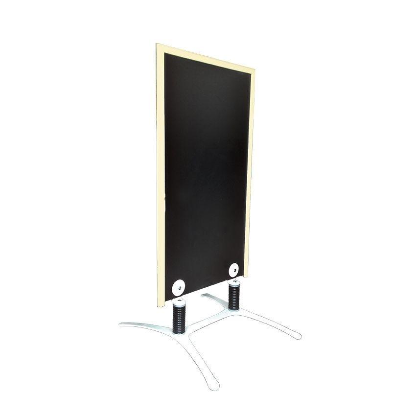 Panneau trottoir cadre en bois couleur blanc cérusé - dimensions 120 x 65 cm