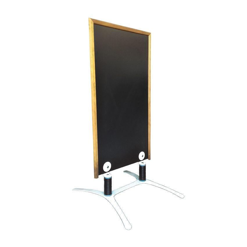 Panneau trottoir cadre en bois couleur chêne - dimensions 120 x 65 cm (photo)