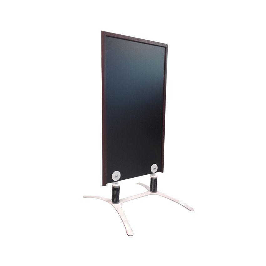 Panneau trottoir cadre en bois couleur chocolat - dimensions 120 x 65 cm (photo)