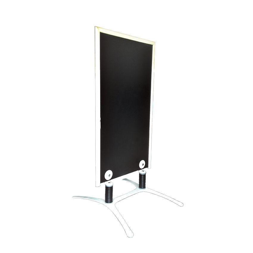 Panneau trottoir cadre en bois couleur ivoire - dimensions 120 x 65 cm (photo)