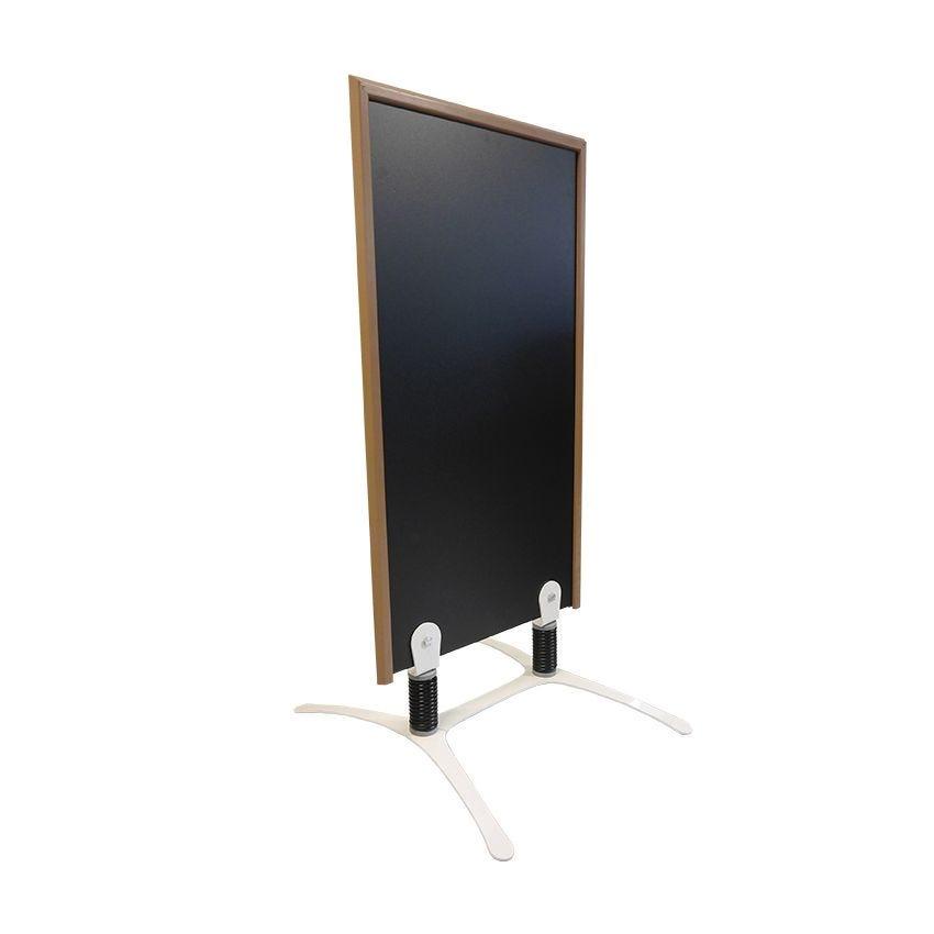 Panneau trottoir cadre en bois couleur taupe - dimensions 120 x 65 cm (photo)