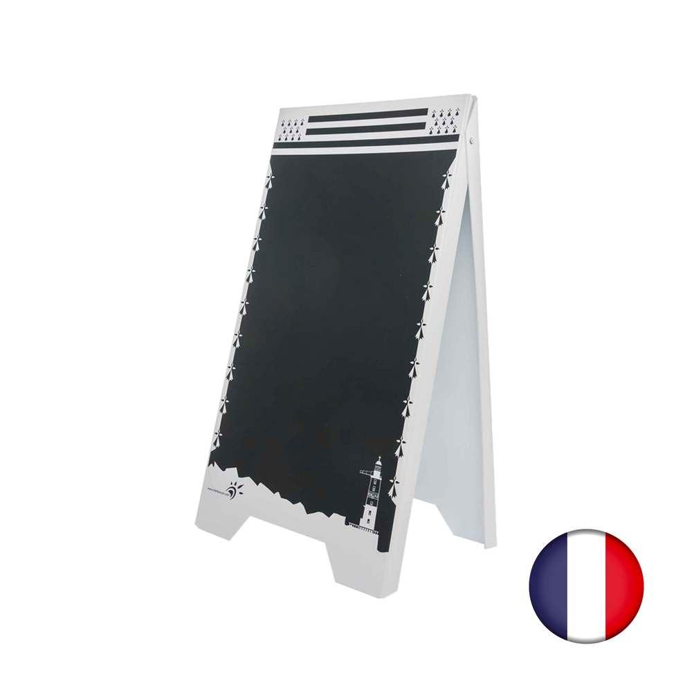 Chevalet stop trottoir plastique modèle bretagne - fabrication française (photo)