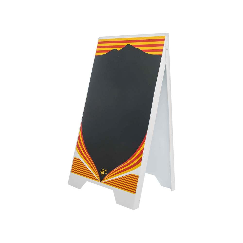 Chevalet stop trottoir plastique modèle catalan - fabrication française (photo)