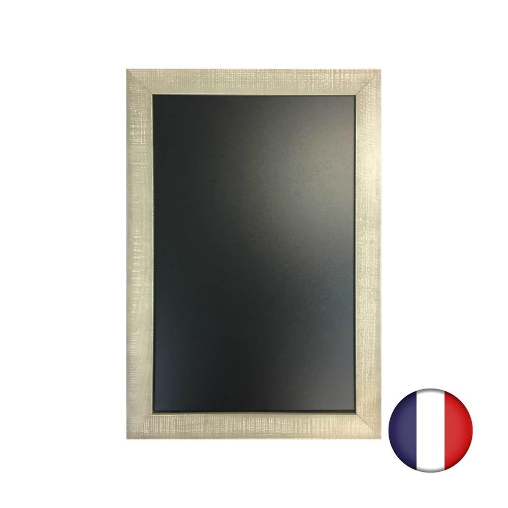 Ardoise cadre bois couleur grise patinée dim 65 x 45 cm - fabrication française (photo)