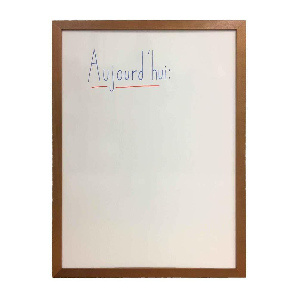 Ardoise couleur chêne dim 72,5 x 52,5 cm, verso blanc effaçable - fab française (photo)