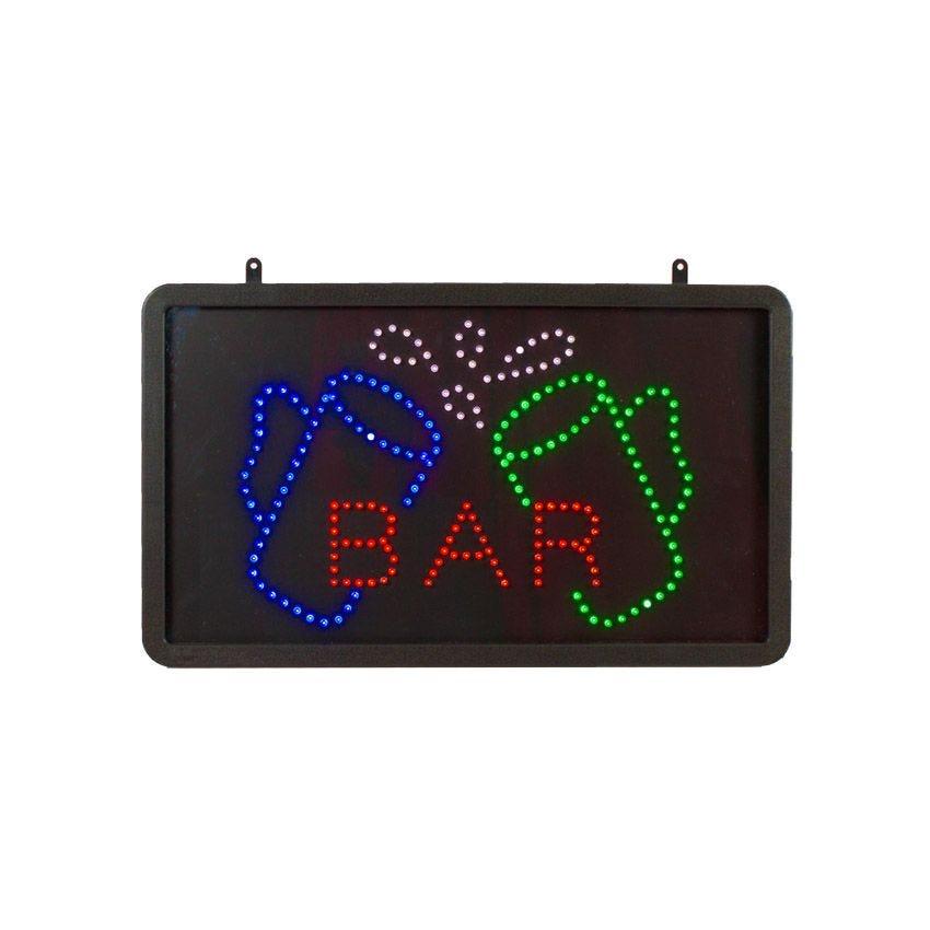 Enseigne lumineuse à led bar de dimensions 55 x 33 cm (photo)