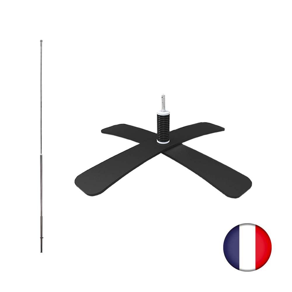 Kit tramontane spécial grand vent avec pied métal et mât pour drapeau interflag® (photo)