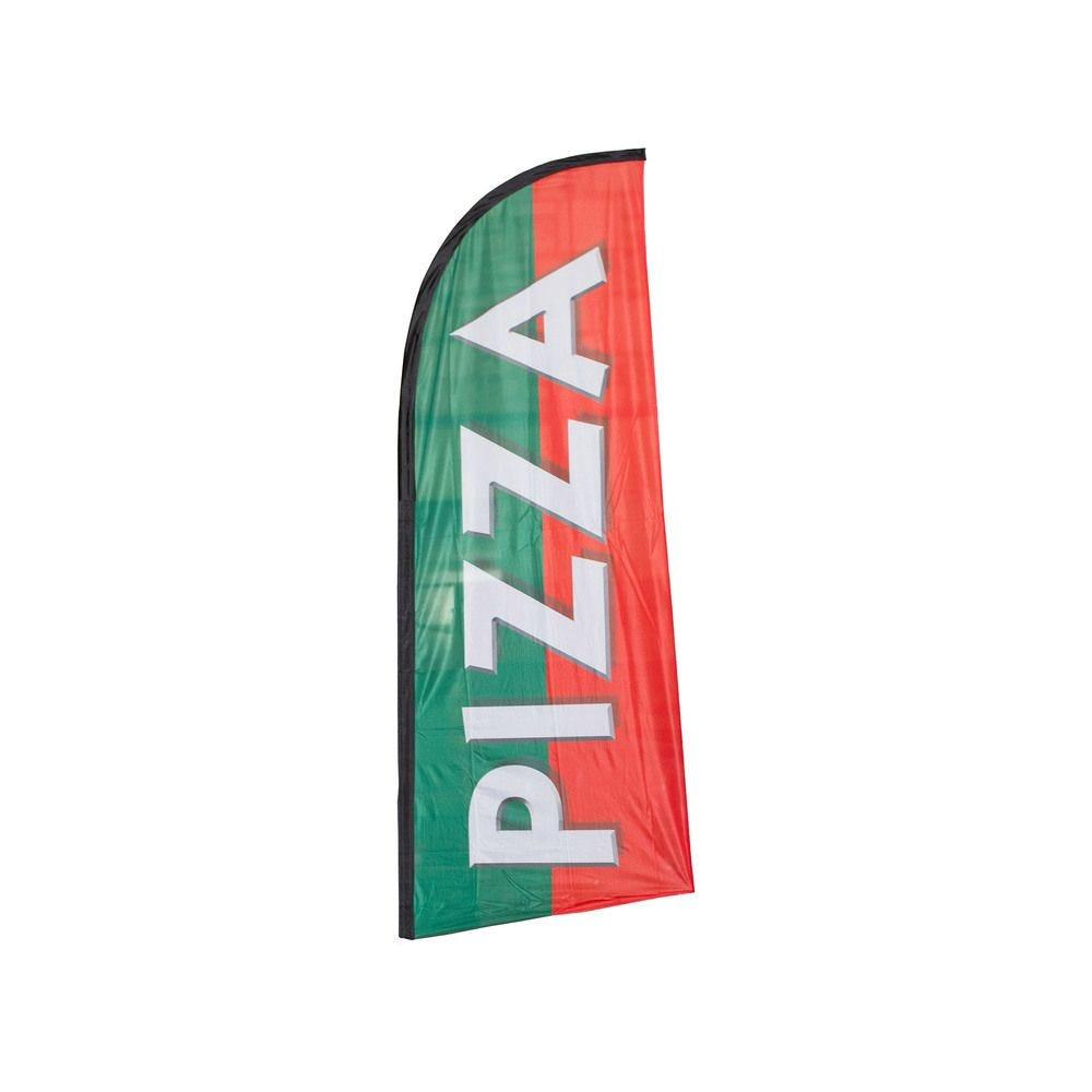 Drapeau publicitaire pizza de dimensions 225 x 85 cm (photo)