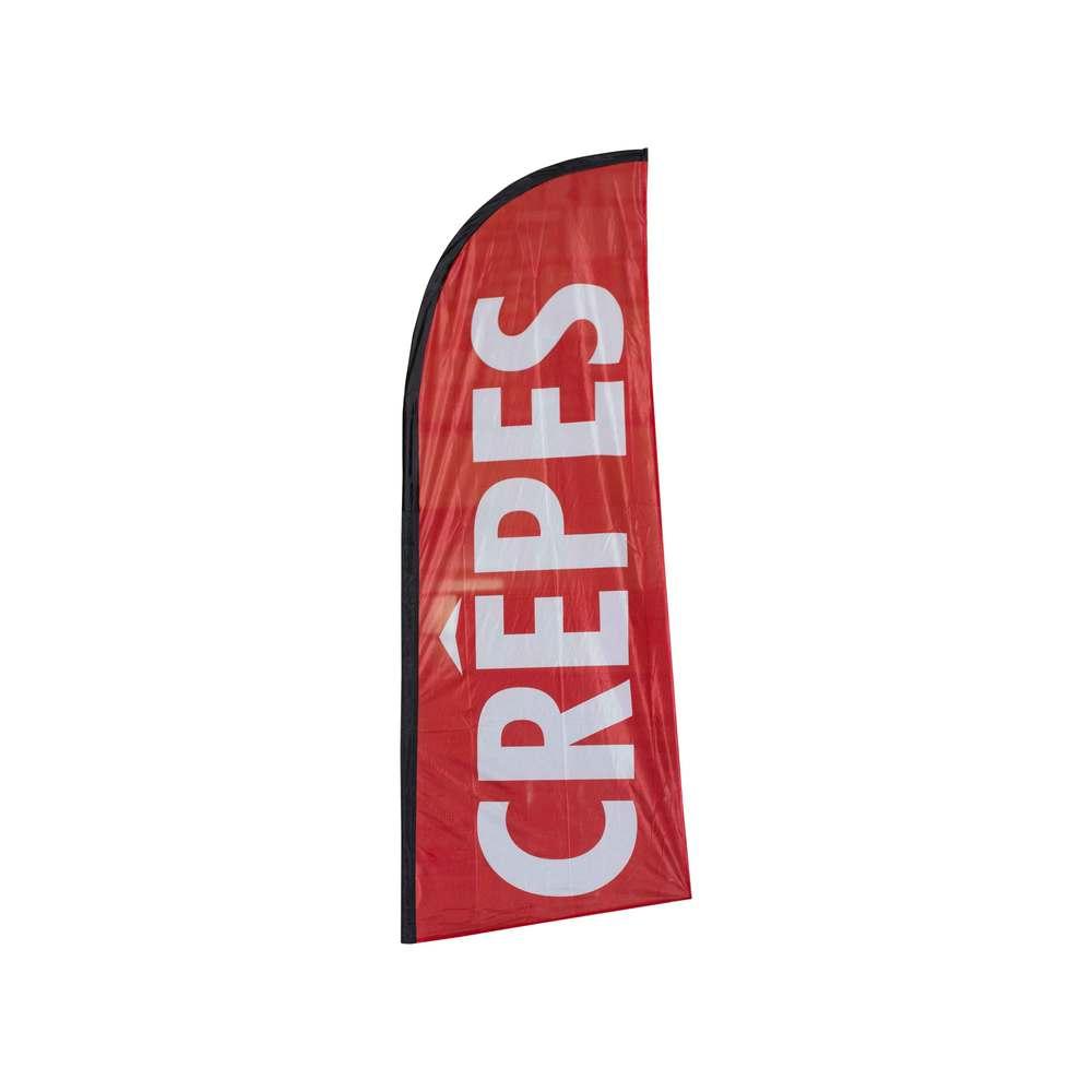 Drapeau publicitaire crepes de dimensions 225 x 85 cm (photo)