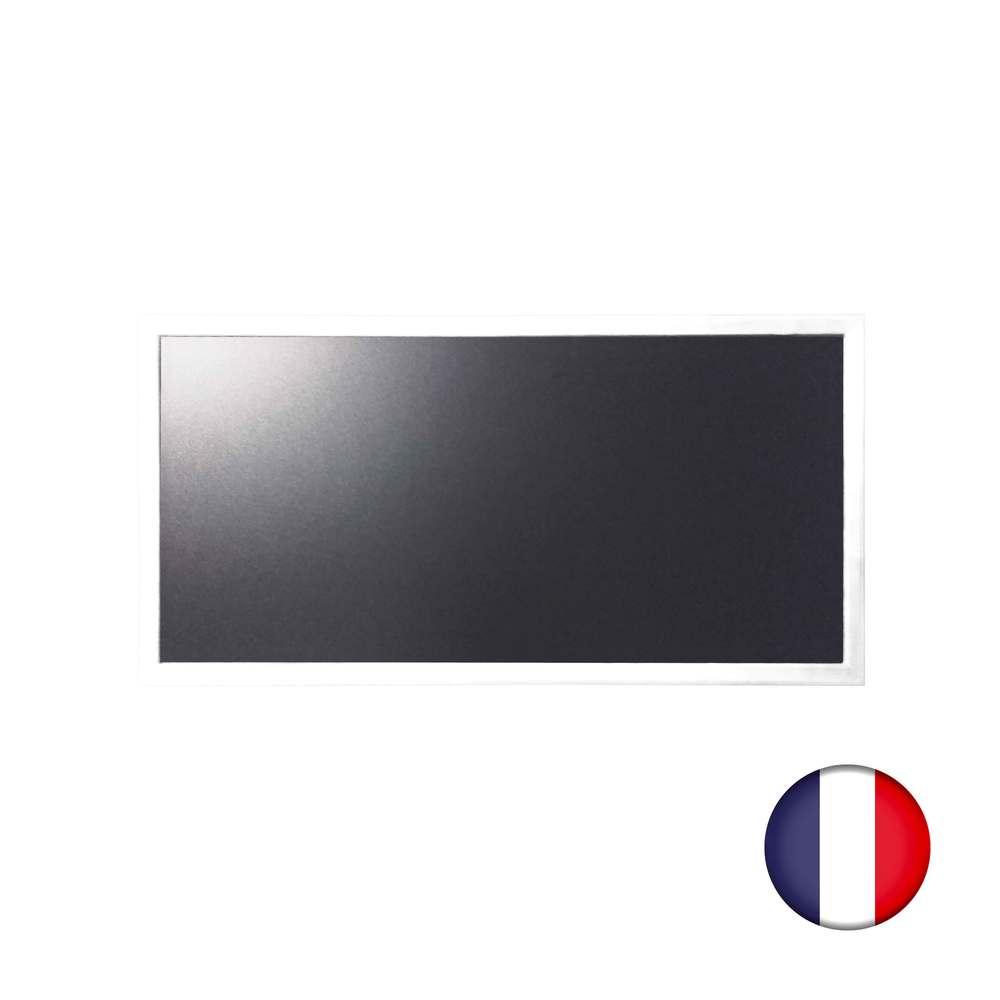Ardoise murale bois couleur blanc dimensions 95 x 50 cm - fabrication française (photo)