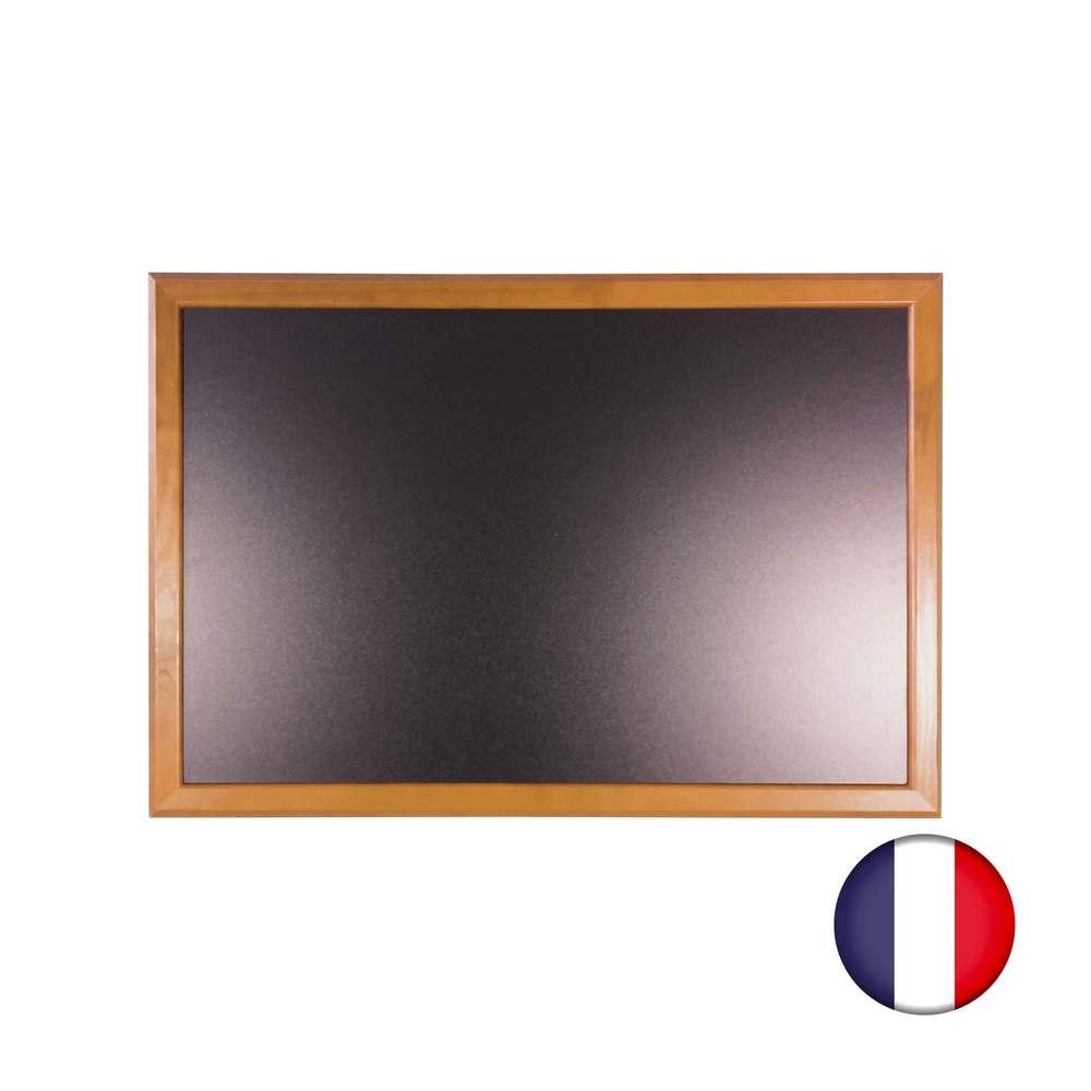 Ardoise murale bois couleur chêne dimensions 66 x 46 cm - fabrication française (photo)