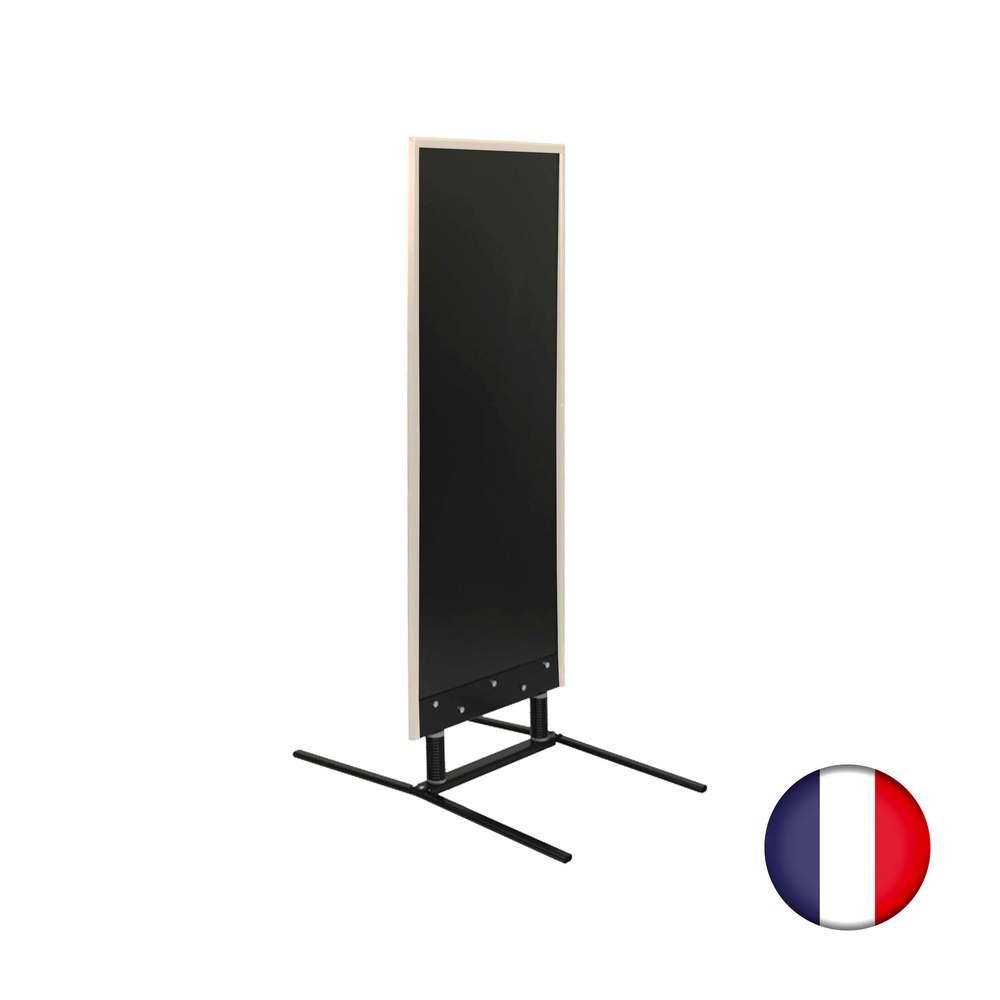 Panneau grande taille sur ressorts cadre bois gris cérusé dimensions 180 x 65 cm