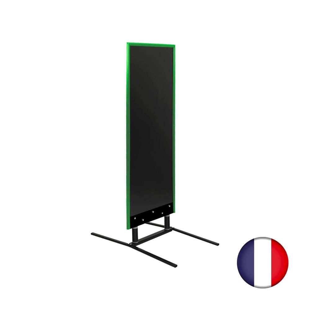 Panneau grande taille sur ressorts cadre bois vert feuille dimensions 180x65 cm