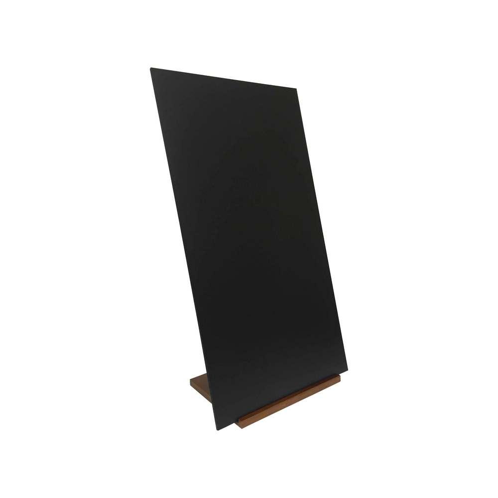 Panneau trottoir sur socle en bois chêne et ardoise dimensions 97 x 52 cm (photo)