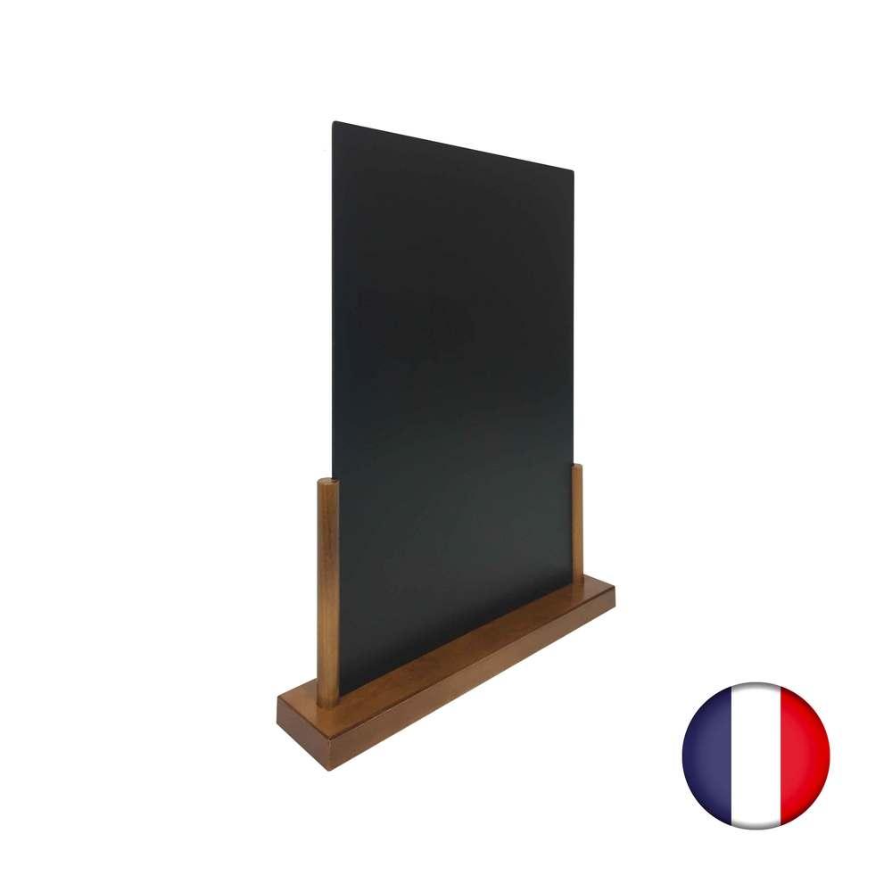 Porte menu de table en bois avec ardoise format a3 - fabrication française (photo)