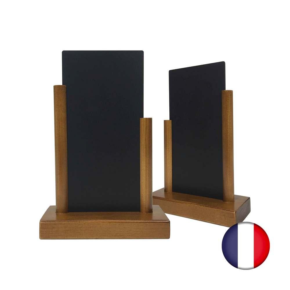 Porte menu de table en bois avec ardoise 20 x 10 cm - fabrication fr - par 2 (photo)