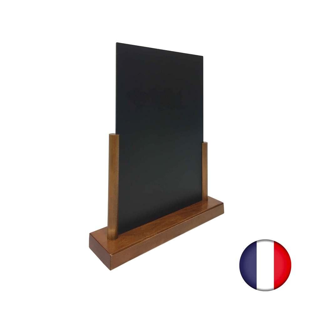 Porte menu de table en bois avec ardoise format a4 - fabrication française (photo)