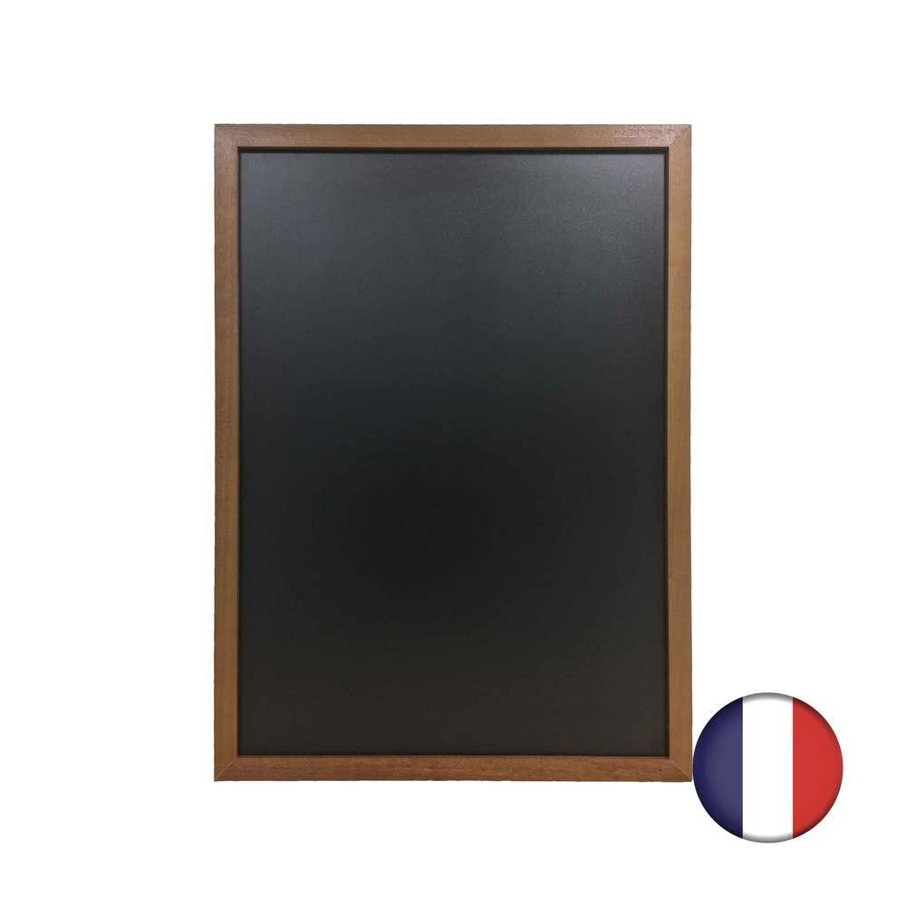 Ardoise cadre droit en bois couleur chêne dimensions 83 x 63 cm - fabrication fr (photo)