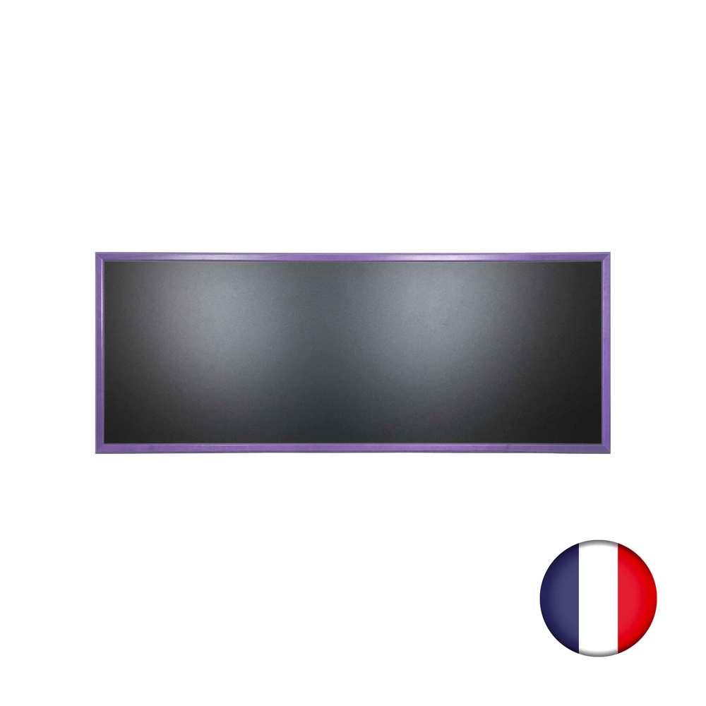 Ardoise murale en bois couleur violet dimensions 166 x 66 cm - fab française