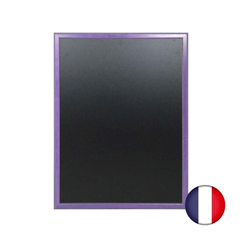 Ardoise murale en bois couleur violet dimensions 86 x 66 cm - fab française