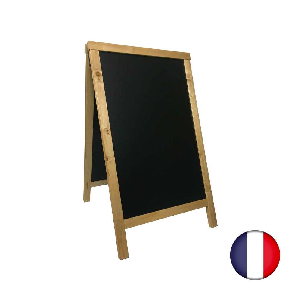 Chevalet stop trottoir avec cadre bois couleur miel dimensions 85 x 55 cm (photo)