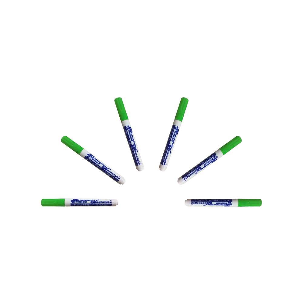 Feutre craie couleur vert pointe 6 mm - par 6 (photo)