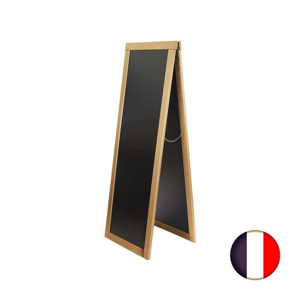 Chevalet stop trottoir avec cadre bois couleur miel dimensions 170 x 60 cm (photo)