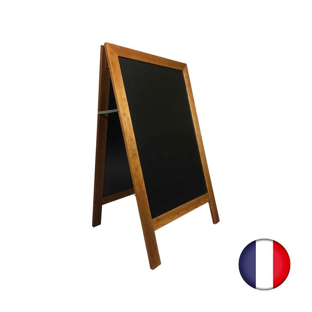 Chevalet stop trottoir avec cadre bois couleur chêne dimensions 127 x 75 cm