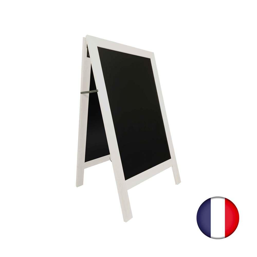 Chevalet stop trottoir avec cadre bois couleur ivoire dimensions 127 x 75 cm (photo)