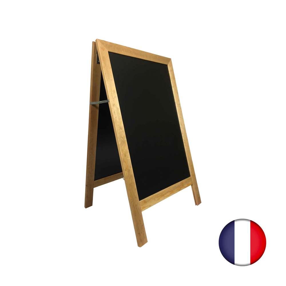 Chevalet stop trottoir avec cadre bois couleur miel dimensions 127 x 75 cm (photo)