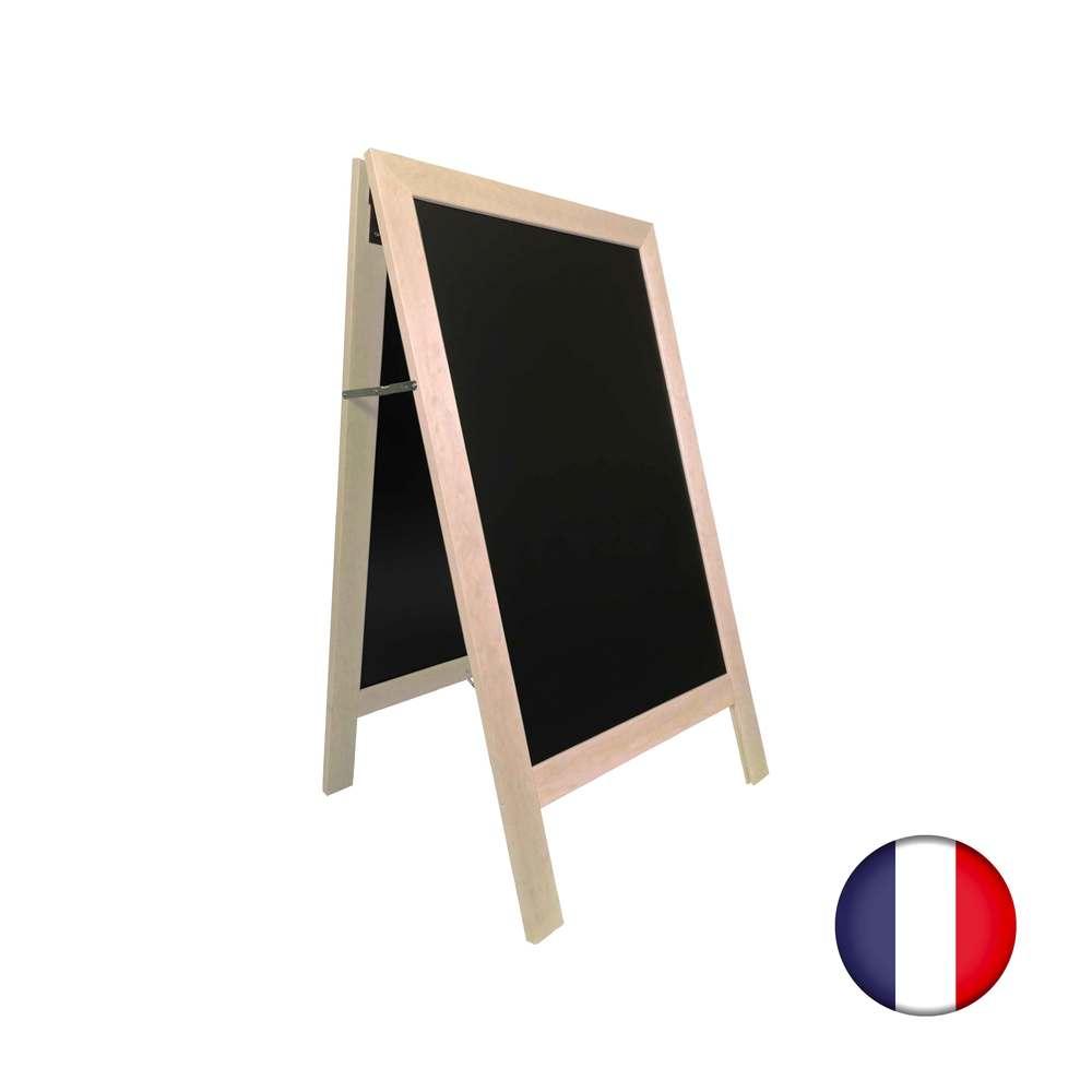 Chevalet stop trottoir avec cadre bois couleur pin naturel dimension 127 x 75 cm (photo)
