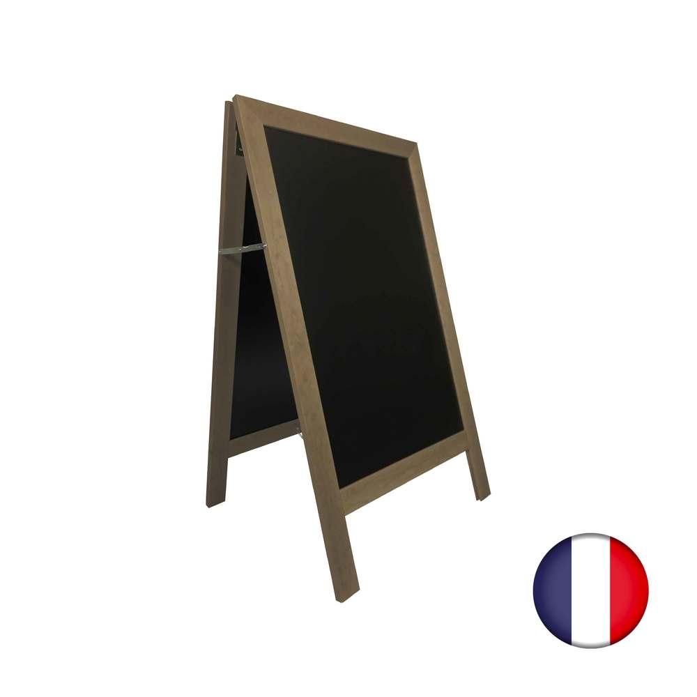 Chevalet stop trottoir avec cadre bois couleur taupe dimensions 127 x 75 cm (photo)
